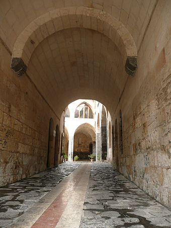 View of a courtyard through an arched alley in Antep's historic city center. Gaziantep 1250663.jpg