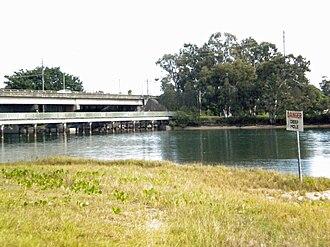 Currumbin, Queensland - The M1 Highway crosses the Currumbin Creek