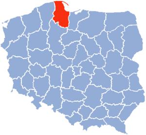 Gdańsk Voivodeship - Image: Gdansk Voivodship 1975
