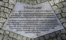 Gedenktafel in der Reuterstraße, in Berlin-Neukölln (Quelle: Wikimedia)