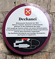 Gedenktafel Schloßberg (Quedlinburg) Dechanei.jpg