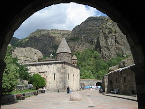 Geghard - Entrance to Geghard Monastery