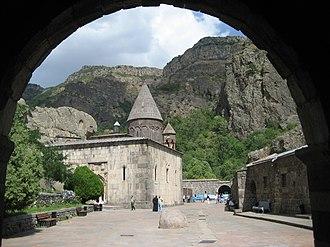 Geghard - Entrance to Geghard Monastery