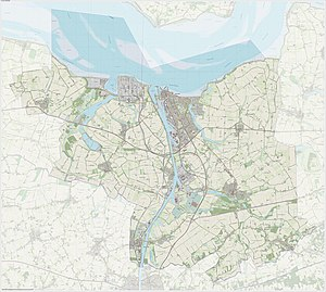 Terneuzen - Dutch Topographic map of the municipality of Terneuzen, June 2015
