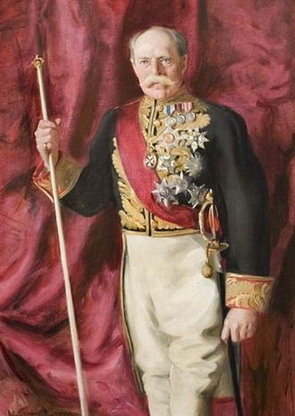 Edward Villiers, 5th Earl of Clarendon - Portrait of Clarendon in his uniform as Lord Chamberlain, c.1902.