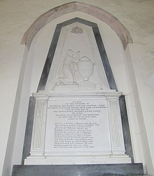 George Richard Savage Nassau - Memorial to George Richard Savage Nassau in All Saints Church, Easton