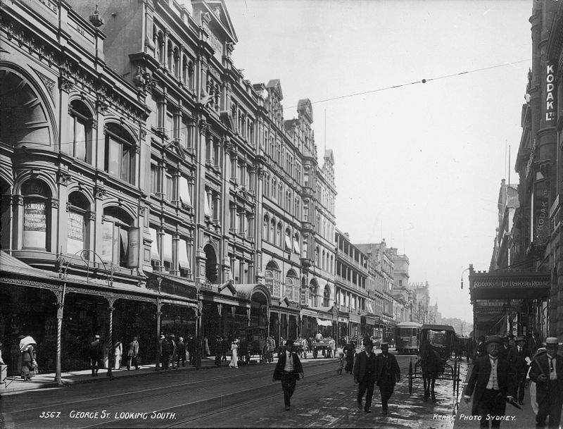 George Street, looking south, Sydney from The Powerhouse Museum Collection.jpg
