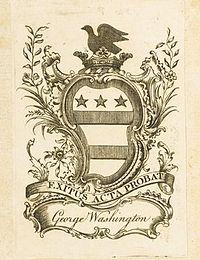 George Washington's bookplate. Sotheby's.jpg
