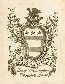 George Washington's personal bookplate