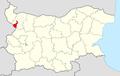 GeorgiDamyanovo Municipality Within Bulgaria.png