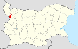 Georgi Damyanovo Municipality - Image: Georgi Damyanovo Municipality Within Bulgaria