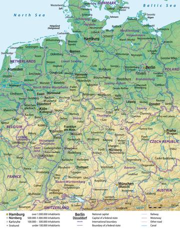kart over nord tyskland Tyskland – Wikipedia kart over nord tyskland