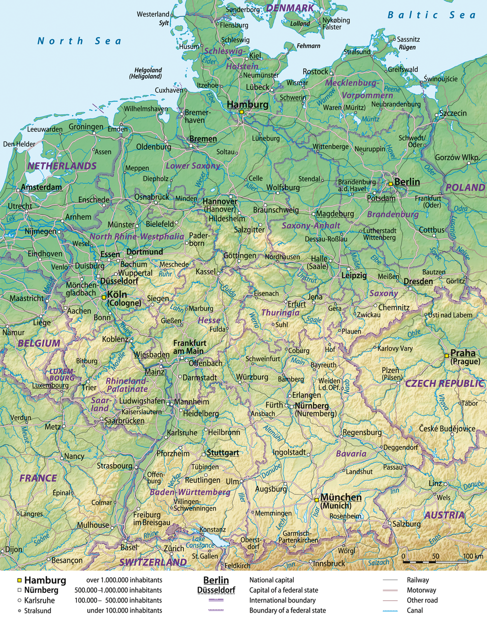 Germany general map