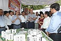 Ghulam Nabi Azad being briefed about the project, at the foundation stone laying ceremony of the New Building Complex of National Centre for Disease Control, in Delhi on April 28, 2013.jpg