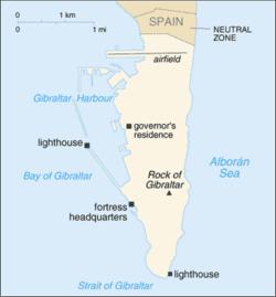 gibraltar karta Gibraltar   Wikipedia gibraltar karta