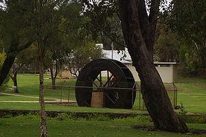 Gingin, Western Australia - Water Wheel in Gingin park, from the original flour mill in Gingin