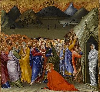 Giovanni di Paolo - Raising of Lazarus by Giovanni