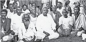 Adbhutananda -  Adbhutananda with Girish Chandra Ghosh, Mahendranath Gupta and other disciples and devotees of Ramakrishna