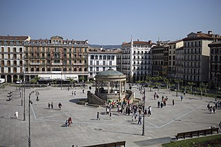 Pamplona Place in Navarre, Spain