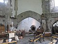 Glastonbury Abbey abbot's kitchen interior.jpg