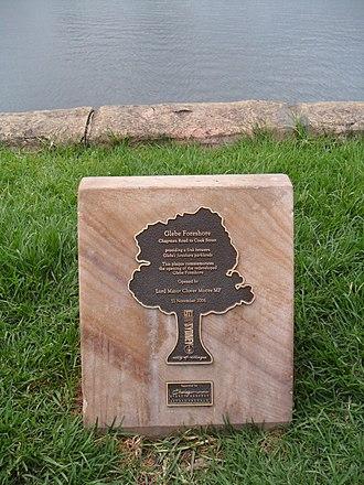 Glebe Point - Image: Glebe Foreshore plaque