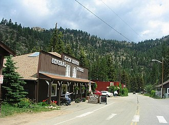 Glen Haven, Colorado - General store on the main street of Glen Haven, Colorado.