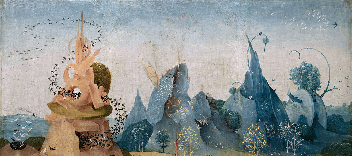 A section from Hieronymus Bosch's The Garden of Earthly Delights