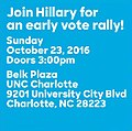 Going Hillary for an early vote rally! October 23 in Charlotte.jpg