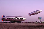 Goodyear Blimps N4A and N3A at the Carson, California, Blimp Base.jpg