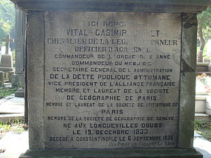 Vital Cuinet - Tomb of Vital Cuinet in Istanbul
