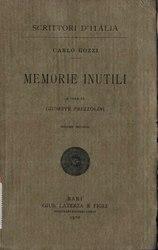 Carlo Gozzi: Memorie Inutili