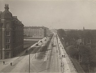 Grønningen, Copenhagen - The street seen from a building on the corner of Bredgade in c. 1910