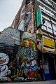 Graffiti in Shoreditch, London - Bird eating Crane by Bon (11154114933).jpg