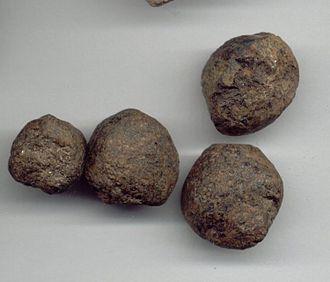 Limonite - Limonite pseudomorphs after garnet