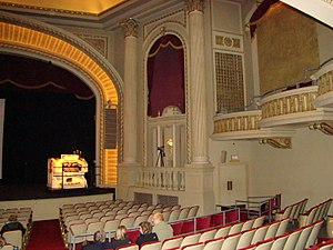 Grand Theater (Wausau, Wisconsin) - Inside the auditorium, with a view of the Organ console