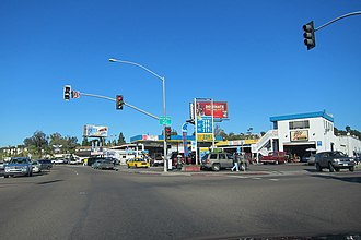 Grantville, San Diego - Grantville Business district