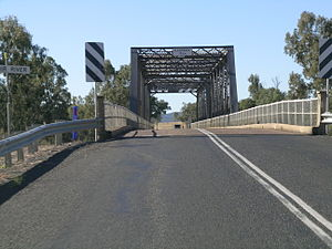 Gwydir Highway - The Gwydir River Bridge on the highway at Gravesend.