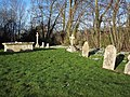 Gravestones and Snowdrops at St Editha, Baverstock - geograph.org.uk - 329725.jpg
