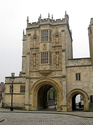 Great Gatehouse, Bristol - The north front.