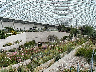 National Botanic Garden of Wales - Inside the Great Glasshouse, designed by Foster and Partners.