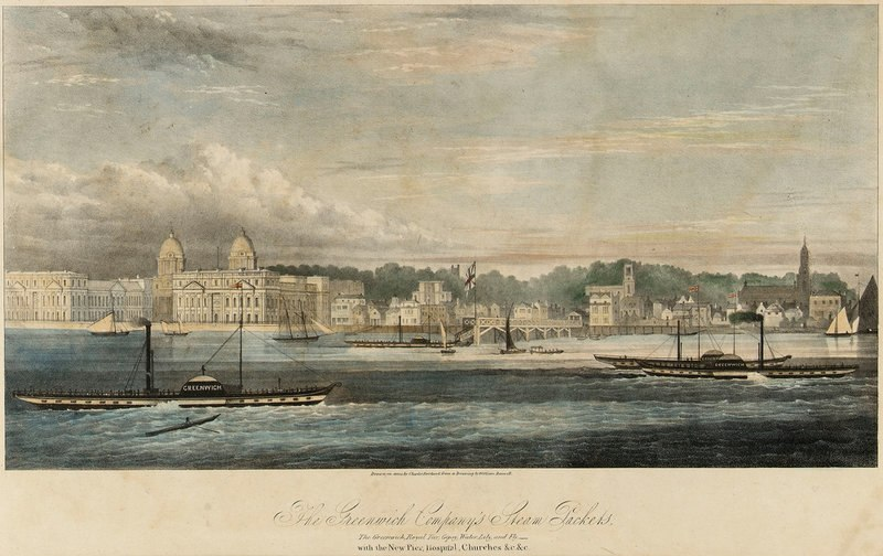 Greenwich Pier, William Ranwell, c 1840