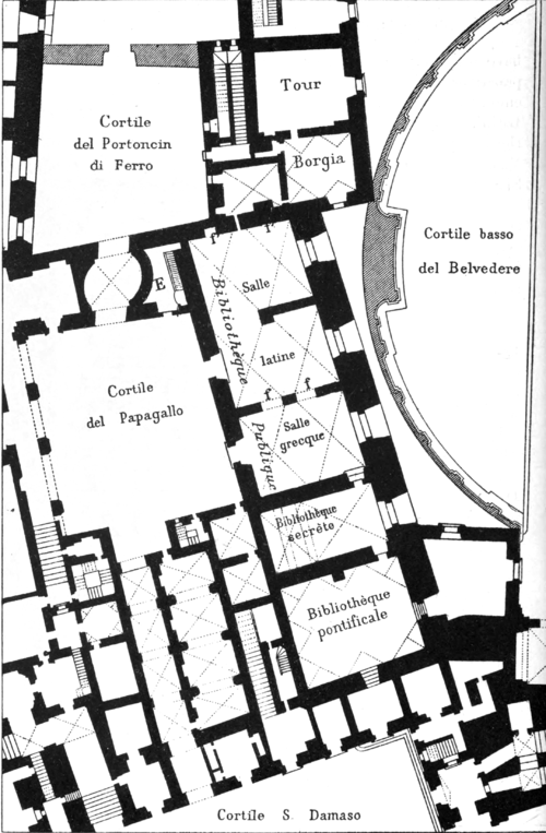 Fig. 1. Ground-plan of part of the Vatican Palace