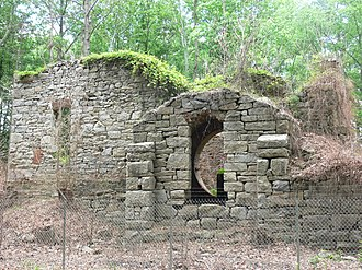 Midlothian, Virginia - Ruins of the Grove Shaft air-pumping station, now part of the Mid-Lothian Mines Park.