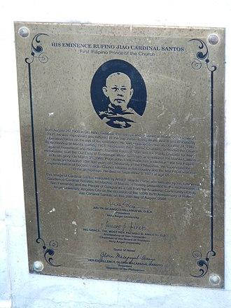 Rufino Santos - Marker (in Capt. Ruben P. Sonco Freedom Square).