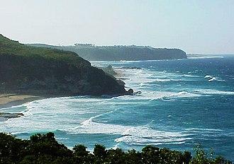 Quebradillas, Puerto Rico - View of the Guajataca Tunnel and coast line of Guajataca Beach