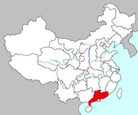 Map of Guangdong