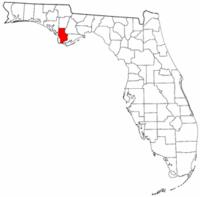 佛罗里达州湾县地图