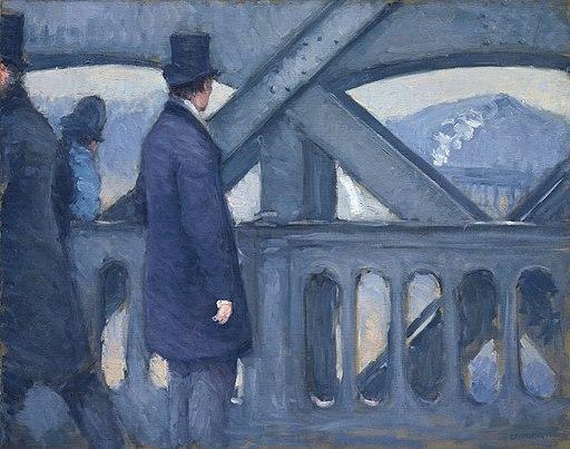 Gustave caillebotte le pont de leurope esquisse