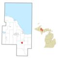 Gwinn (community), MI location.png