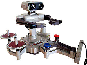 Gyromite - R.O.B. equipped for Gyromite